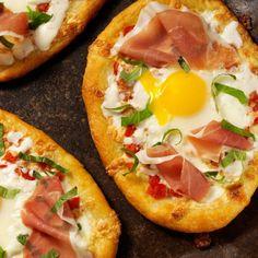 Mini Pizzas de Huevo para Desayunar