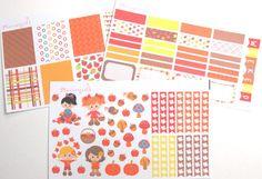 Autumn Girls MATTE Stickers for your Erin Condren by Plannergirls