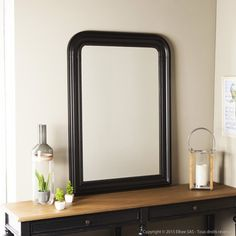 miroir en bois dor miroirs miroirs de sorci re cadres. Black Bedroom Furniture Sets. Home Design Ideas