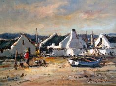 christiaan nice Fishermans Cottage, South African Artists, Artist Gallery, Pastel Paintings, Art Paintings, Beach Art, Art Techniques, Love Art, Landscape Paintings