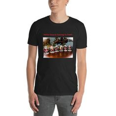 Santa Claus Short-Sleeve Unisex T-Shirt Santa Claus Is Coming To Town, How To Make, How To Wear, Unisex, Tees, Sleeves, Model, Cotton, Mens Tops