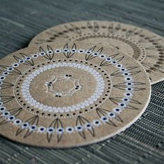 coasters -- recycled-- beautiful --8 for $12 -- Harabu House