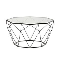 Geometric design meets modernity in this BLOSSOM tempered glass and black metal coffee table! With its wonderfully delicate design and its original look this living room table would go perfectly with a contemporary design scheme. Steel Furniture, Unique Furniture, Living Room Furniture, Coffee Table 2019, Coffee Tables, Diy Tisch, Safety Glass, Black Metal, Interior Design Living Room