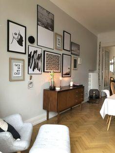 """Endlich Bilder für meine Wände – Esszimmer mit neuer Wandfarbe """"Ammonite"""" von Farrow and Ball, Gallerywall/Bildern von Juniqe, Sideboard  – Und wie ihr euch eure eigene Gallerxwall """"bastelt"""" erfahrt ihr unter dem Link"""