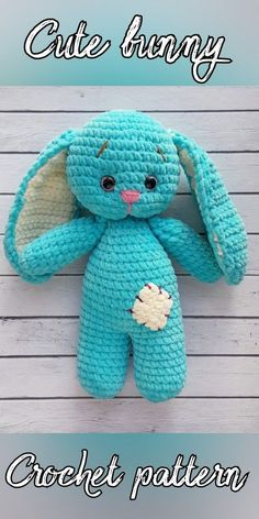 CROCHET PATTERN Bunny plush toy - Amigurumi pattern rabbit - Crochet toy pattern - Crochet amigurumi : Cute amigurumi kawaii bunny crochet pattern – great for Easter or as a Christmas gift! Crochet Bunny Pattern, Crochet Toys Patterns, Stuffed Toys Patterns, Crochet Baby, Amigurumi Patterns, Kawaii Crochet, Crochet Rabbit, Amigurumi Tutorial, Crochet Dolls