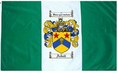 Arkell Coat of Arms / Family Crest Flag
