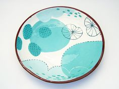 Fantastic oceanic // Ceramic Bowl Terracotta Bowl Pottery Bowl by susansimonini