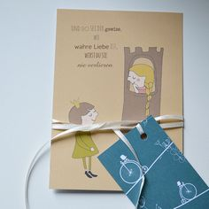 #fairytale #cute #illustration #rapunzel #princess #märchen #postcards #postkarte shop it at DaWanda: http://de.dawanda.com/product/51259318-Postkarte-Rapunzel