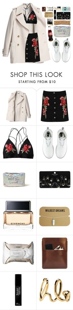 """feels."" by clueless-designer ❤ liked on Polyvore featuring See by Chloé, WearAll, Dr. Martens, Hollister Co., Topshop, Givenchy, Korres, Palila, Polaroid and Julep"