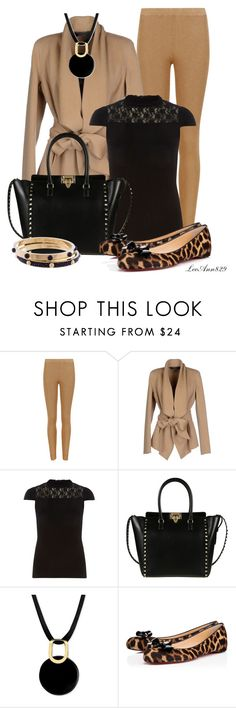"""""""blackhandbag with leopard flats"""" by leeann829 ❤ liked on Polyvore featuring Donna Karan, Dorothy Perkins, Valentino, Christian Louboutin and Louis Vuitton"""