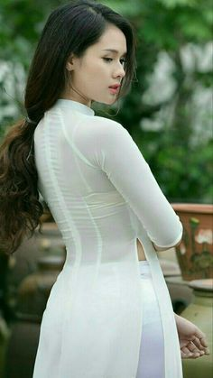Ao Dai, High Neck Dress, Dresses With Sleeves, Asian, Long Sleeve, Vietnam, Honey, Traditional, Beauty