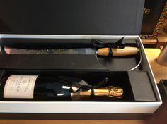 Kadoverpaking met champagnesabel  De Drie Dennen