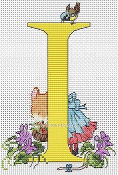 Seraphina Alphabet Letter I Cross Stitch Kit