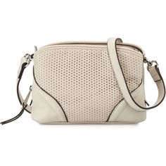 French Connection Brett Perforated Faux-Leather Crossbody Bag (€23) ❤ liked on Polyvore featuring bags, handbags, shoulder bags, african st, crossbody handbags, vegan handbags, pink crossbody purse, pink handbags and faux leather handbags