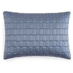 Hudson Park Windsor Quilted Pillow Sham Standard Luxury Bedding NEW$105