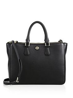 Tory Burch - Robinson Leather Double-Zip Satchel