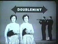 The first Doublemint twins on commercials from 1959-1963