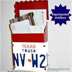 Repurposed Salvage Mailbox