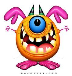 Cartoon - Lustige Monster
