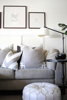 playing around with pillows - By flourish design + style