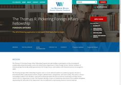 The Thomas R. Pickering Foreign Affairs Fellowship: For a student entering a graduate academic program relevant to international affairs, political and economic analysis, administration, management, and science policy. For applicants who have an interest in pursuing a Foreign Services career.