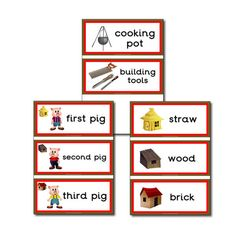 Early Years / Key Stage 1 Teaching Resources - Primary Treasure Chest provides of EYFS teaching resources for all areas of the curriculum. High quality early years resources / preschool printables for teachers. Traditional Tales, Traditional Stories, Preschool Word Walls, Three Little Pigs Story, Tales For Children, Billy Goats Gruff, Flashcards For Kids, Barnyard Party, Third Grade Science