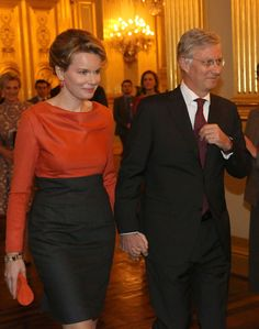 Princess Mathilde & Prince Philippe of Belgium