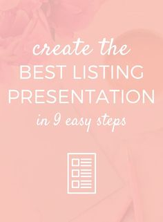 Regardless of which type of real estate agent you are, in order to create the best listing presentation that actually converts, you'll need...