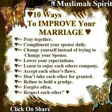 10 ways to improve marriage Islam Marriage, Marriage Life, Happy Marriage, Relationship Advice, Muslim Quotes, Islamic Quotes, True Quotes, Best Quotes, Favorite Quotes