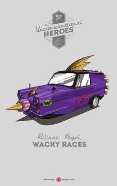 Unconventional Heroes Reliant Regal Wacky Races