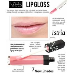 NARS Lip Gloss in Istria Review ❤ liked on Polyvore featuring beauty products, makeup, lip makeup, lip gloss and nars cosmetics