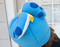 Blue Splatoon Inkling Inspired Beanie Hat Winter Cap by LuffNStuff