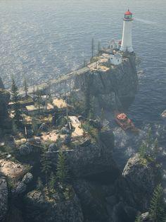 40 Cinematic Landscape Stills from Video Games - Alan Wake