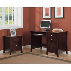 Altra Astute Single Pedestal Desk And File Cabinet Set