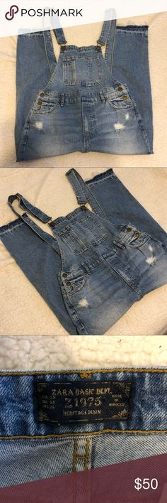 Size XS, with a 32 inch inseam. Distressed style and perfect for the upcoming spring season! Denim Overalls, Denim Jeans, Zara Jeans, Must Have Items, Fashion Tips, Fashion Design, Fashion Trends, Spring, Outfits