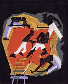 African Gold Miners, 1946 Jacob Lawrence, American, b. Atlantic City, New Jersey, 1917–2000