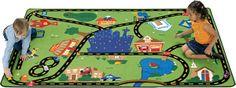 Carpets for Kids Theme Cruisin' Around The Town Kids Rug Size: X x Green Ideas 2017, Preschool Furniture, Carpets For Kids, Childrens Rugs, Boho Home, Kids Play Area, Décor Boho, Diy Carpet, Beige Carpet
