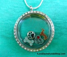 Love this dachshund floating charm necklace!!!!