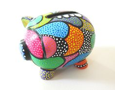 Art the Pig Art the Pig Pottery Painting Designs, Pottery Designs, This Little Piggy, Little Pigs, Dot Painting, Ceramic Painting, Pig Bank, Ceramic Store, Personalized Piggy Bank