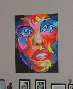 Colored face, te koop.