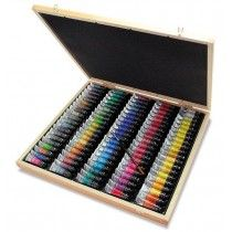 Sennelier 98 Watercolour Tubes Wooden Box Set 10ml Extra Fine