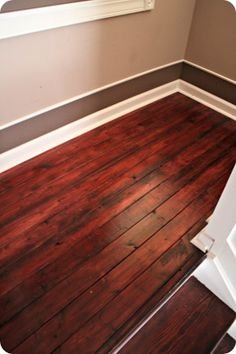 Love the idea of trim above the baseboard and color inside dark.
