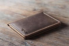 Passport Wallet PERSONALIZED Leather Passport Wallet by JooJoobs
