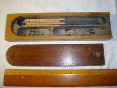 alter Schieferkasten-Griffel , Schieferstifte