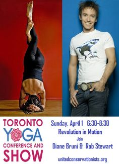Sunday April 1, 6:30- 8:30 come join us as we take a class with Diane Bruni and Rob Stewart, following the class, a lecture with Rob!