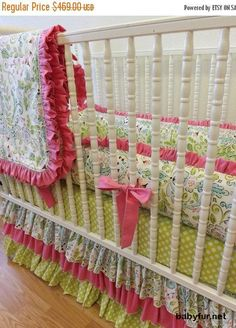 SALE-SALE-SALE--- Baby Bedding Made to Order 4 pc Crib Bedding Set - http://babyfur.net/sale-sale-sale-baby-bedding-made-to-order-4-pc-crib-bedding-set.html