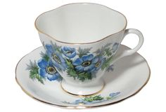 Clarence Co., Bone China Cup & Saucer from England