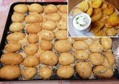 Crunchy snack: these potato halves from the oven are an internet hit! Passionfruit Recipes, Food Platters, Wonderful Recipe, Mediterranean Recipes, Party Snacks, Four, Finger Foods, Good Food, Food And Drink