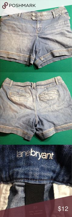 Lane Bryant shorts Like new, no rips or stains Lane Bryant Shorts Jean Shorts