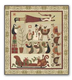 New! Friends for Christmas Wool & Matka Silk Block of the Month by Lynette Anderson Designs